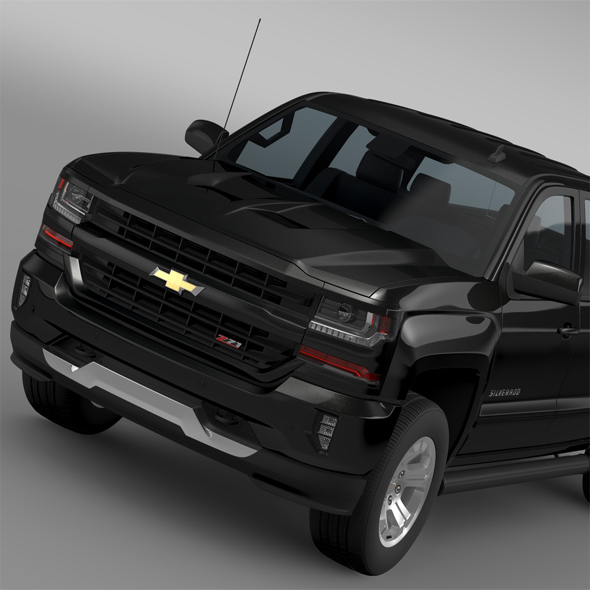 Chevrolet Silverado LT Z71 Crew Cab GMTK2 Standart Box 2016 - 3DOcean Item for Sale