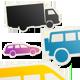 14 Automobile Symbol Stickers, 7 Colors - GraphicRiver Item for Sale