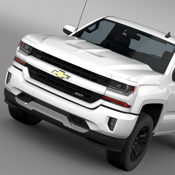 Chevrolet Silverado LT Z71 Regular Cab GMTK2 Standart Box 2016 - 3DOcean Item for Sale