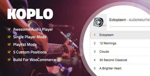 Koplo - WooCommerce Product Audio Sample Player - CodeCanyon Item for Sale