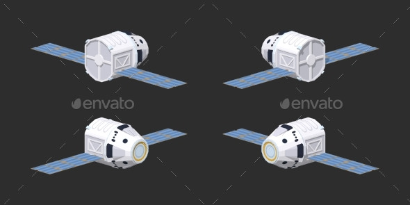 Low Poly Modern Reusable Spaceship - Man-made Objects Objects