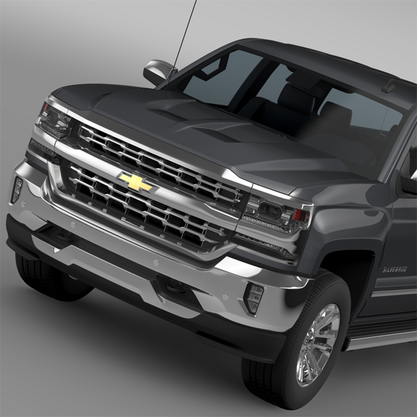 Chevrolet Silverado LTZ Crew Cab GMTK2 Standart Box 2016 - 3DOcean Item for Sale
