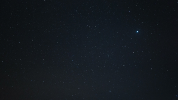 Starry Sky With A Polar Star And Constellation The Big Dipper By