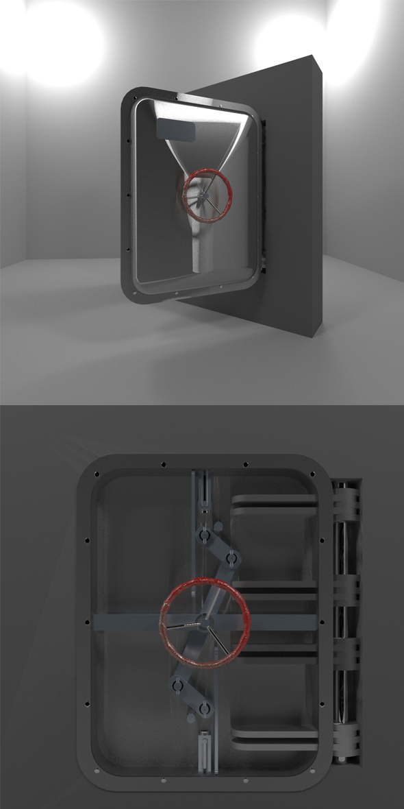 Bunker Door (Type C) - 3DOcean Item for Sale