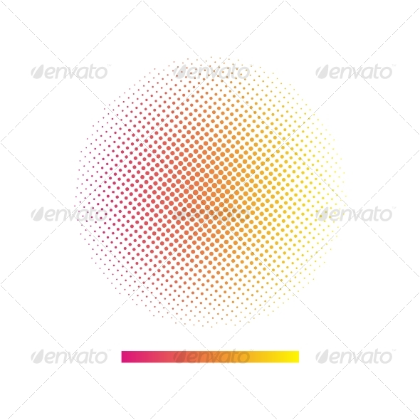 Gradient halftone vector background - Backgrounds Decorative