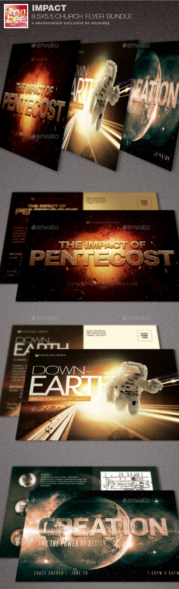 Impact Church Flyer Template Bundle - Church Flyers