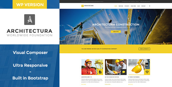 Architectura - Construction & Building WP Theme - Business Corporate