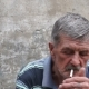 Old Man Smoking a Cigarette - VideoHive Item for Sale