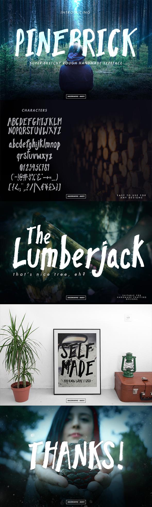 Pinebrick Typeface - Sans-Serif Fonts