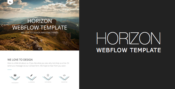 Horizon One Page and Multipage Webflow Template Free Templates