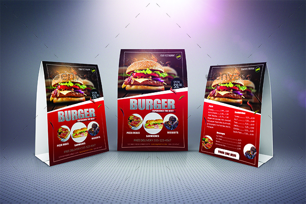 Table Tent /Menu Template & Table Tent /Menu Template by Arrow3000 | GraphicRiver