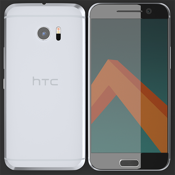 HTC M10 Silver - 3DOcean Item for Sale