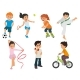 Sports Kids Are Actively Involved In Sports. - GraphicRiver Item for Sale