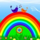 rainbow with the  birds - GraphicRiver Item for Sale