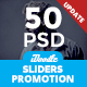 Promotion Sliders - 50 PSD-Graphicriver中文最全的素材分享平台