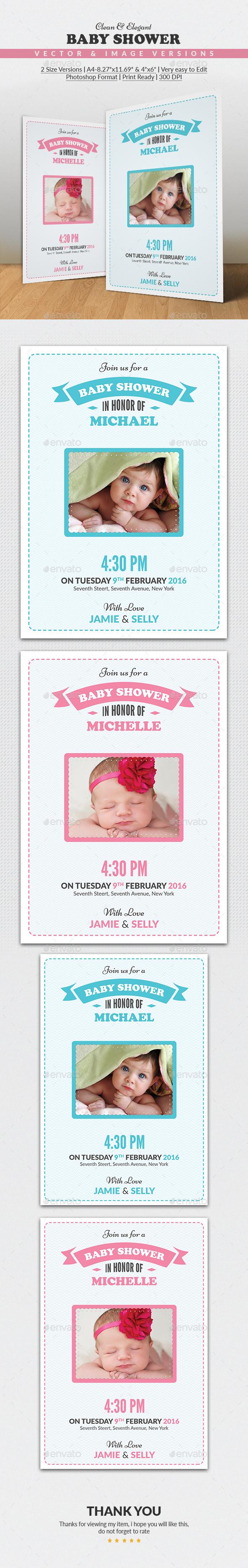 Baby Shower Invitation Card - Invitations Cards & Invites