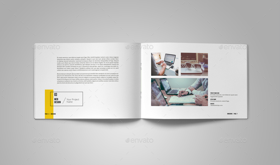 A5 portfolio template by alhaytar graphicriver for Product design agency