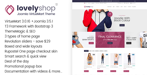 LovelyShop – Responsive Multipurpose VirtueMart Theme