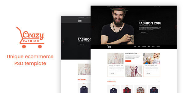 Crazy Fashion eCommerce PSD Template