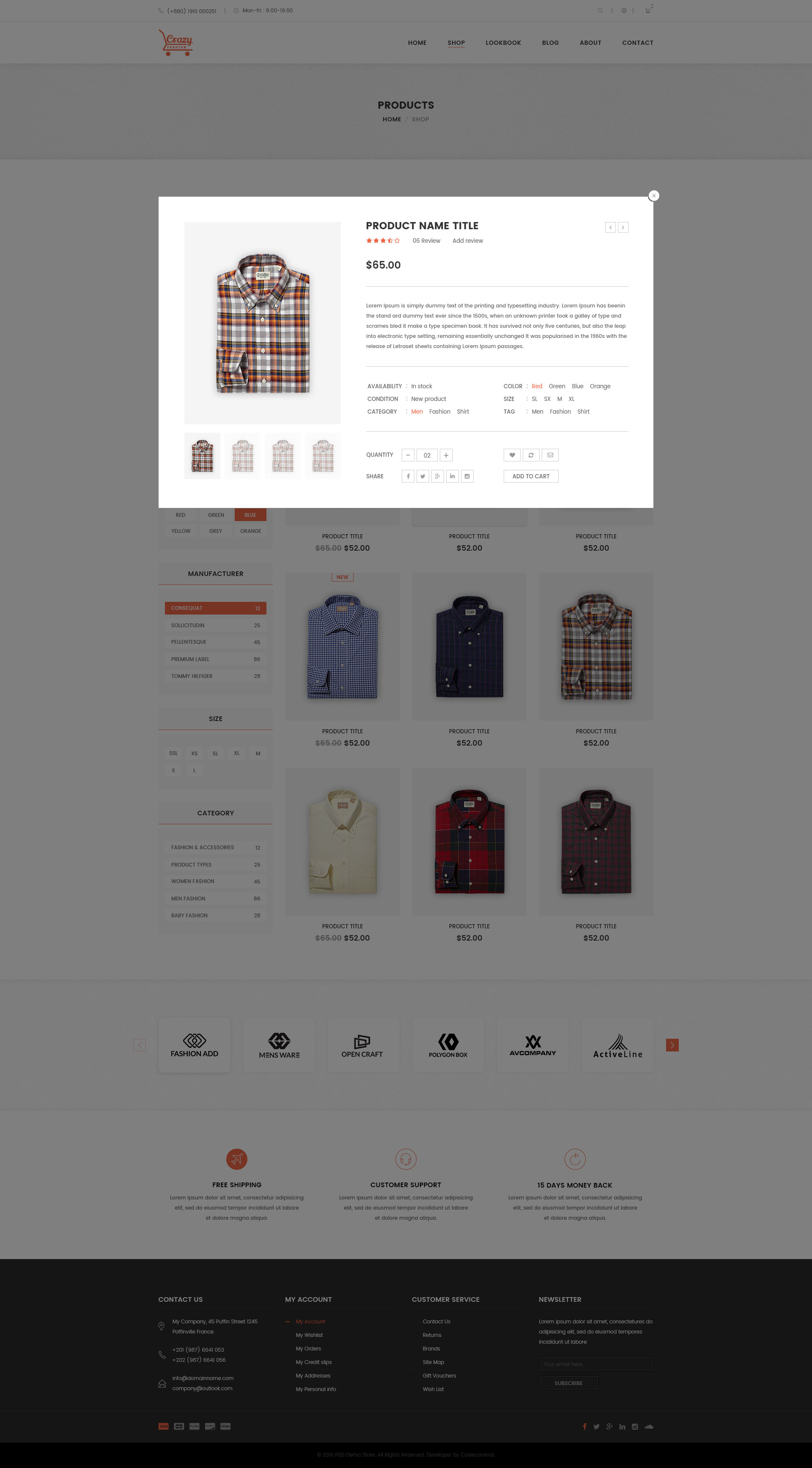 Crazy Fashion eCommerce PSD Template by codecarnival | ThemeForest