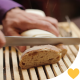 Cutting Healthy Bread on Wooden Board - VideoHive Item for Sale