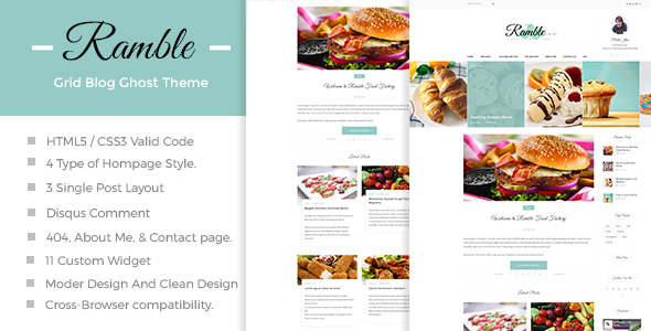 Ramble-Grid – A Responsive Ghost Blog Theme