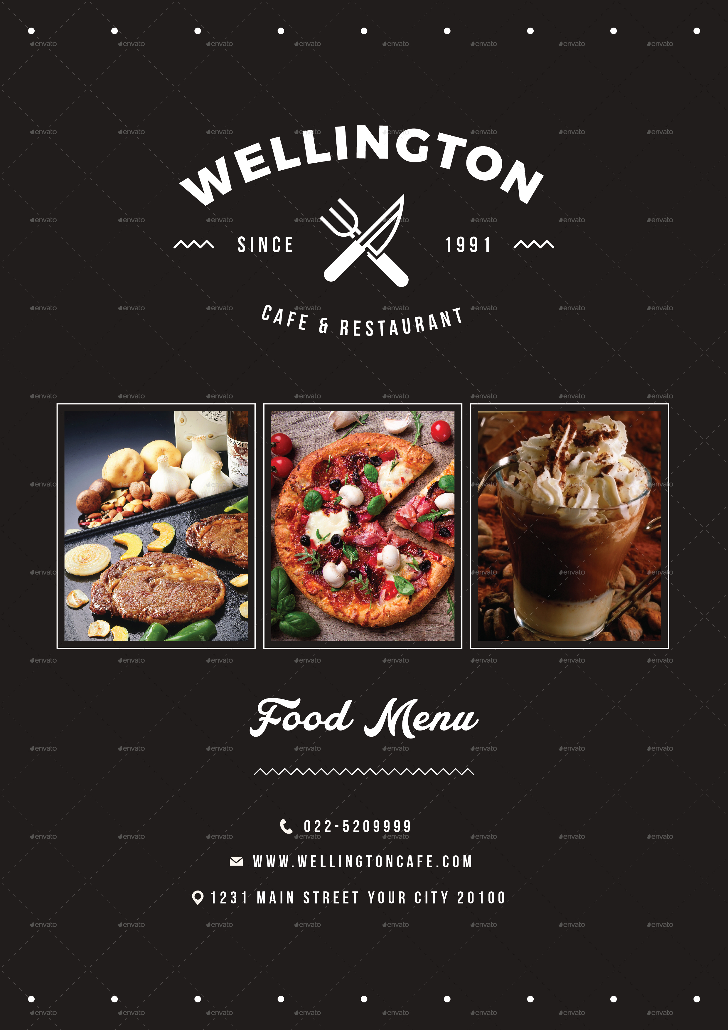 simple minimalis restaurant food menu package by vynetta graphicriver