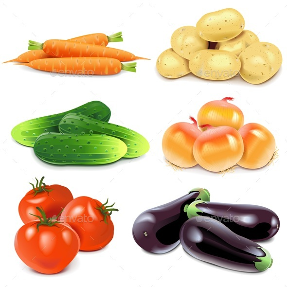 Vector Vegetables - Food Objects