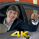 Guy Shaking Keys To a New Car - VideoHive Item for Sale
