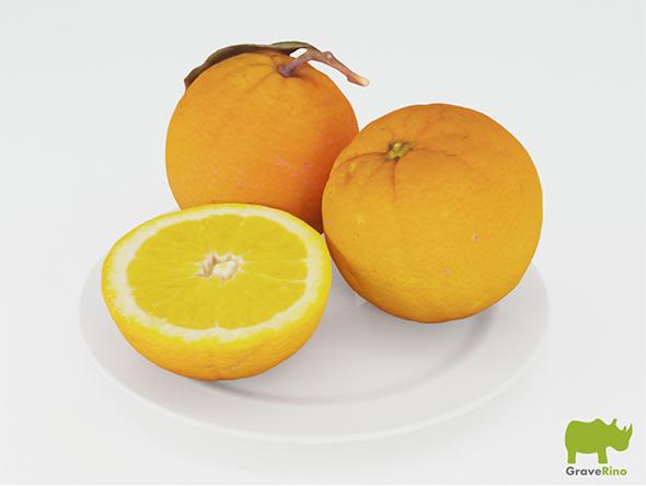 Oranges 3D Model - 3DOcean Item for Sale