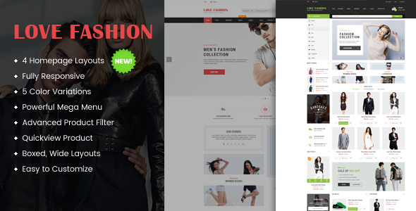 Love Fashion – Responsive Multipurpose OpenCart Theme