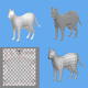 cat 1a low poly 3D Model - 3DOcean Item for Sale