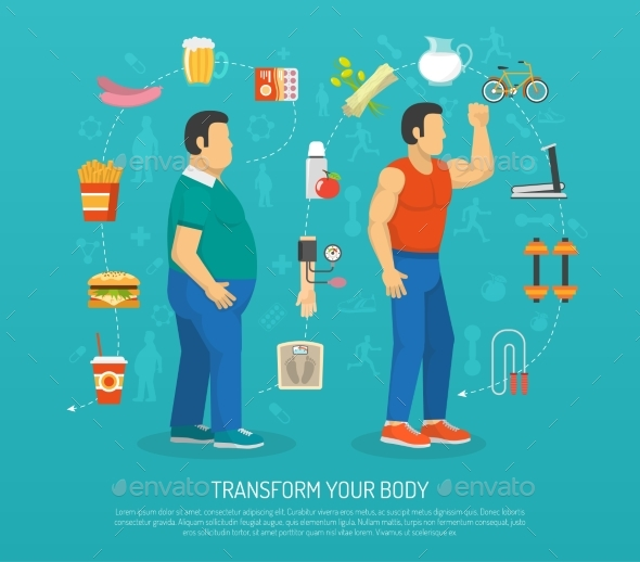 Health And Obesity Illustration - Health/Medicine Conceptual