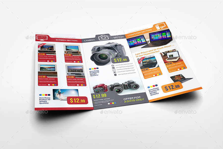 Electronics Products Catalog TriFold Brochure Template By Owpictures