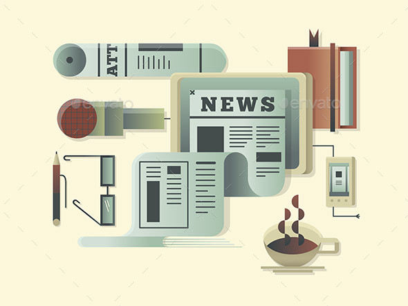 News Design Concept - Miscellaneous Vectors