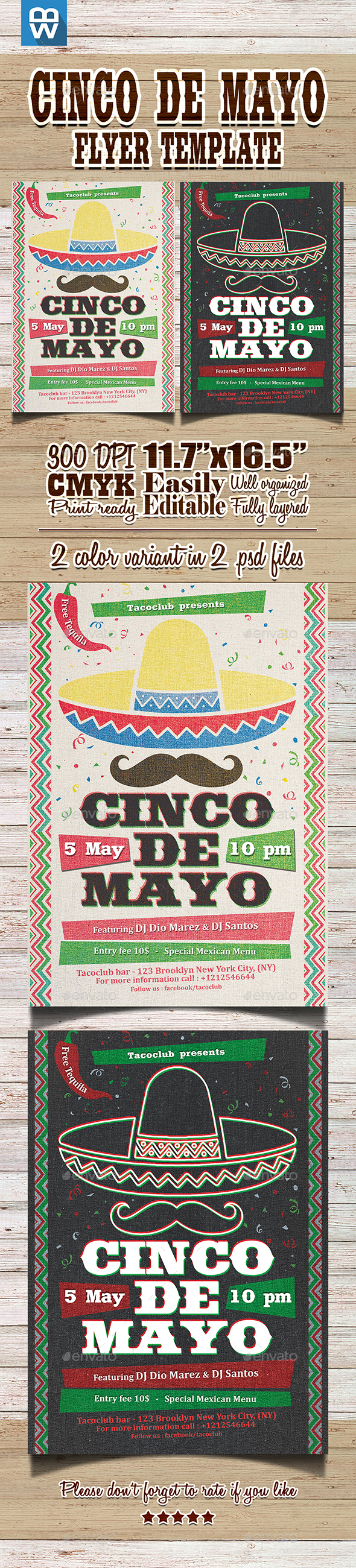 Cinco de Mayo Flyer Template - Events Flyers