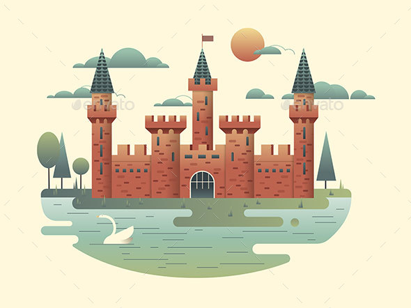 Castle Design Flat - Buildings Objects
