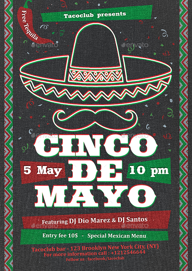 cinco de mayo flyer template by indworks