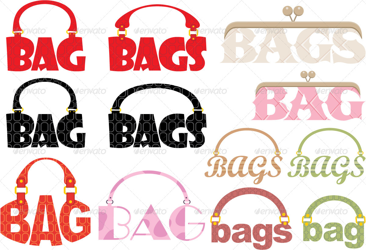 Word of bag in the form of a logotype