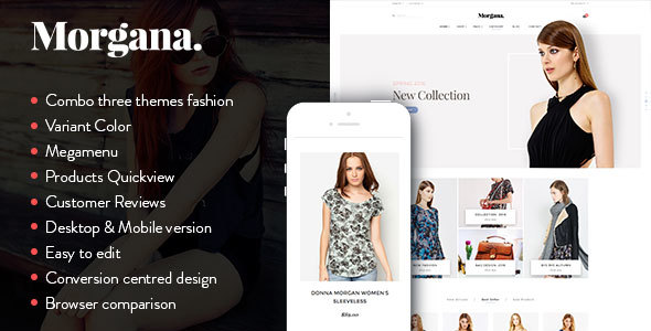 Morgana - Responsive Shopify Theme - Fashion Shopify