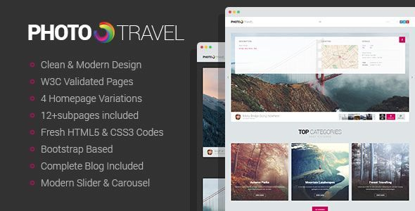 PhotoTravel – Premium Photo HTML5 Template