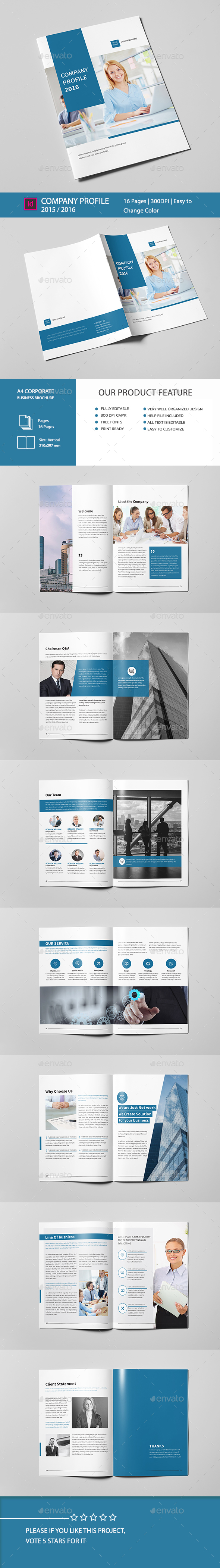 Company Profile Brochure 16 Pages A4 - Corporate Brochures