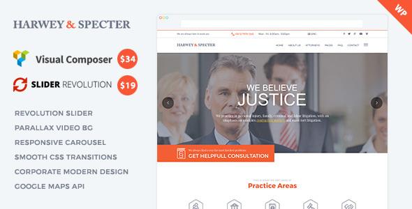 Harvey & Specter | Law Firm WP Theme - Corporate WordPress