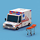 Ambulance with Stretcher - 3DOcean Item for Sale
