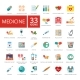 Medicine Icons Set - GraphicRiver Item for Sale