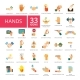 Hands Icons Set - GraphicRiver Item for Sale
