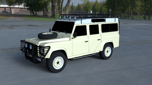 Land Rover Defender 110 Station Wagon - 3DOcean Item for Sale