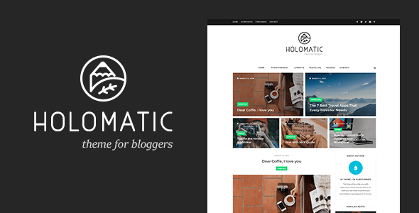 Holomatic – WordPress Theme For Bloggers