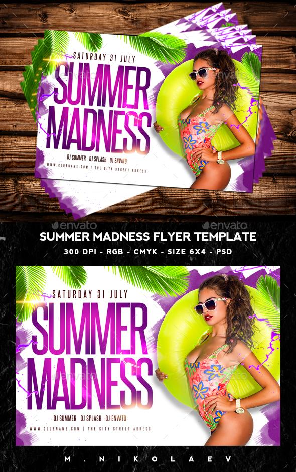 Summer Madness Flyer V2