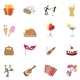 Party Icons Set, Cartoon Style - GraphicRiver Item for Sale